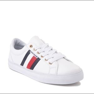 Womens Tommy Hilfiger Lightz Casual Shoe White red